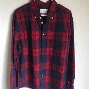 Men's Target Goodfellow red/blue button down shirt